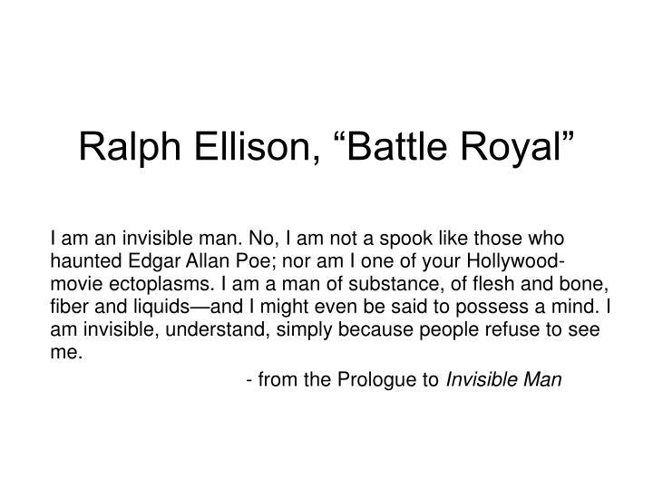 ralph ellison battle royal n.