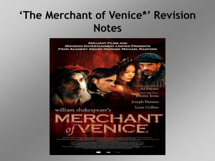 the merchant of venice revision notes n.