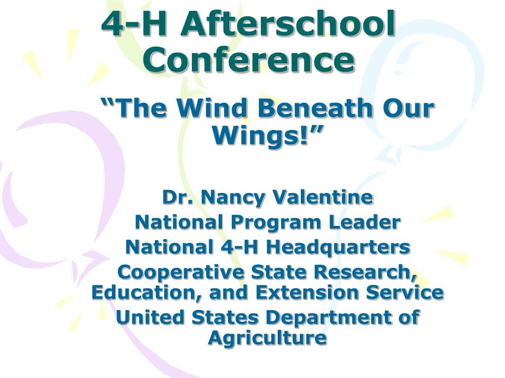 4 h afterschool conference l.