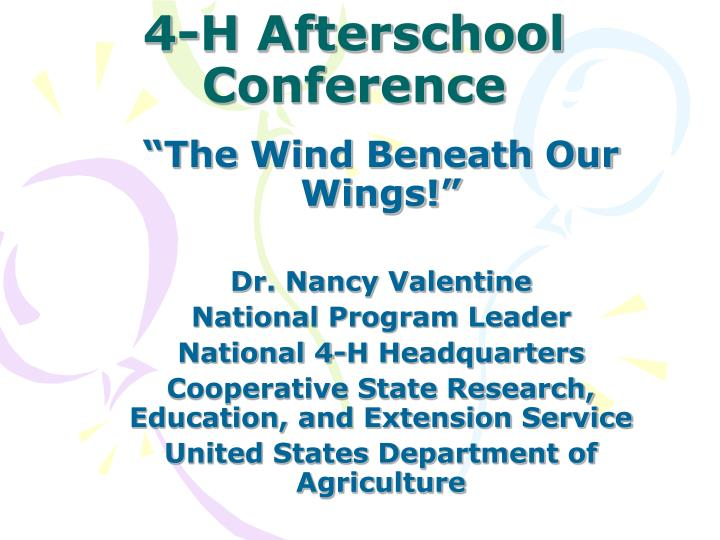 4 h afterschool conference