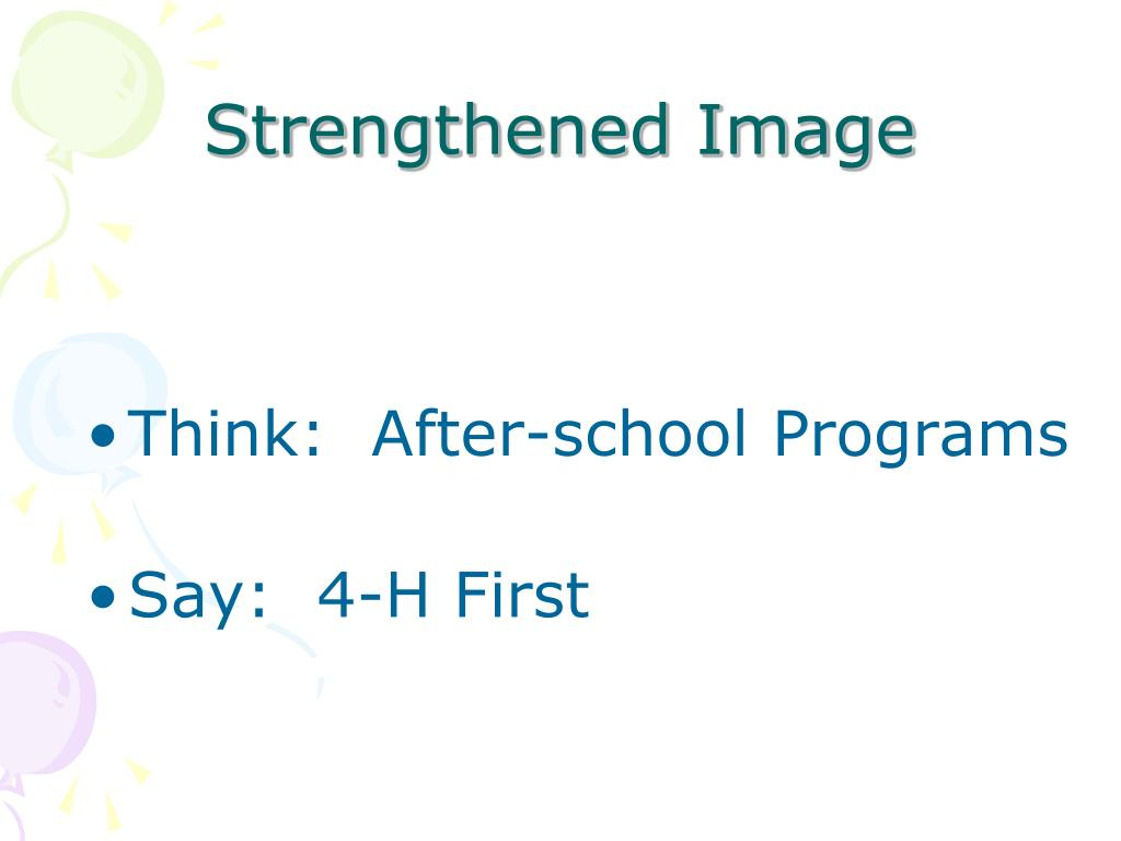Strengthened Image