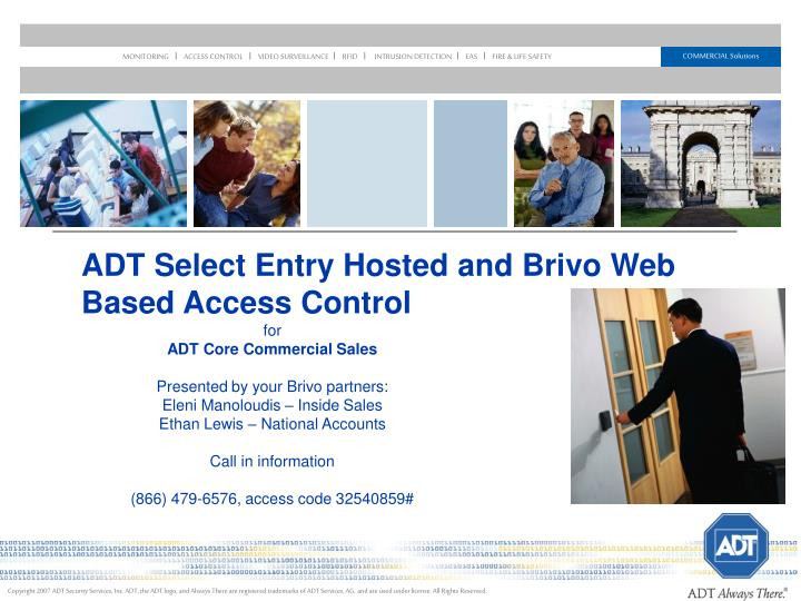 adt select entry hosted and brivo web based access control n.