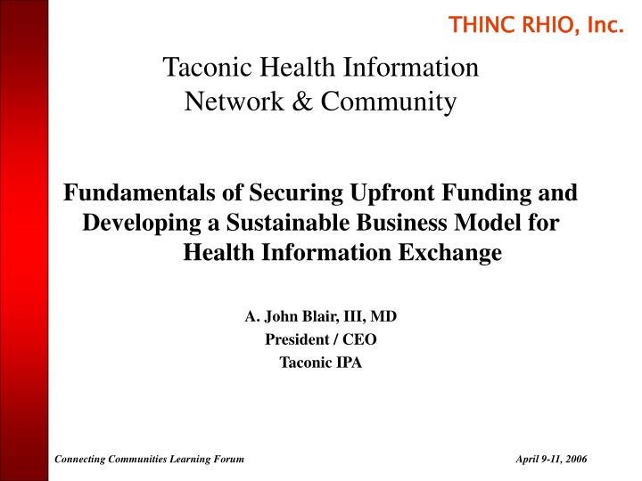 taconic health information network community n.