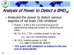 analysis of power to detect a bmd 10110