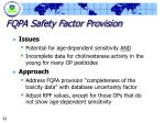 fqpa safety factor provision