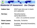 residential op assessment use changes