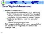 use of regional assessments