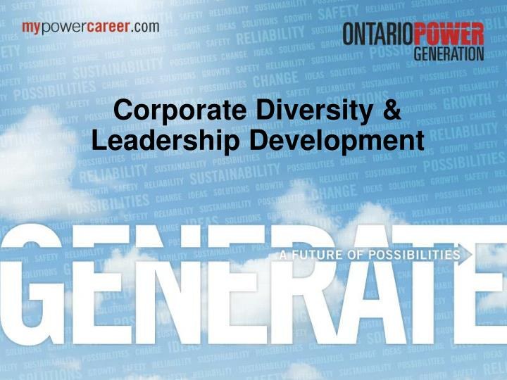 corporate diversity leadership development