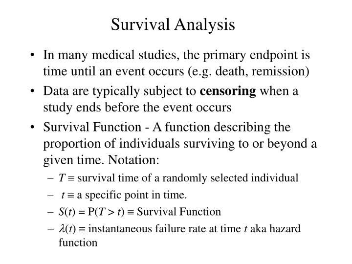 survival analysis n.