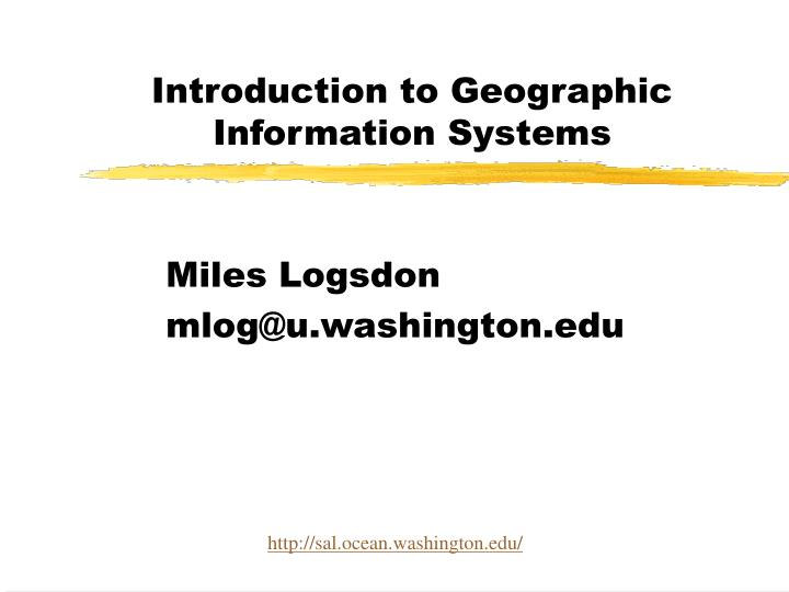 introduction to geographic information systems n.