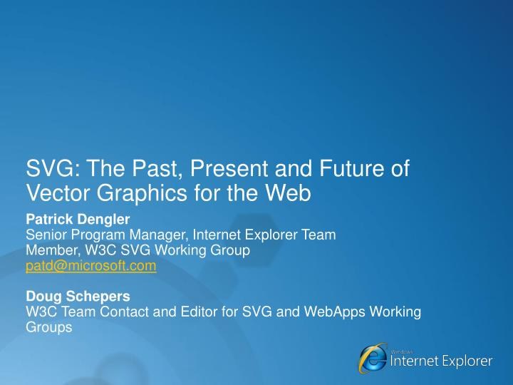 svg the past present and future of vector graphics for the web