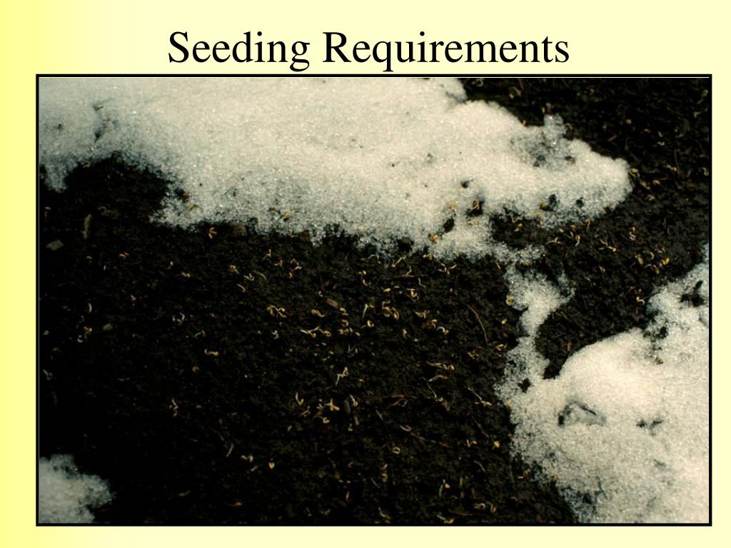 Seeding Requirements
