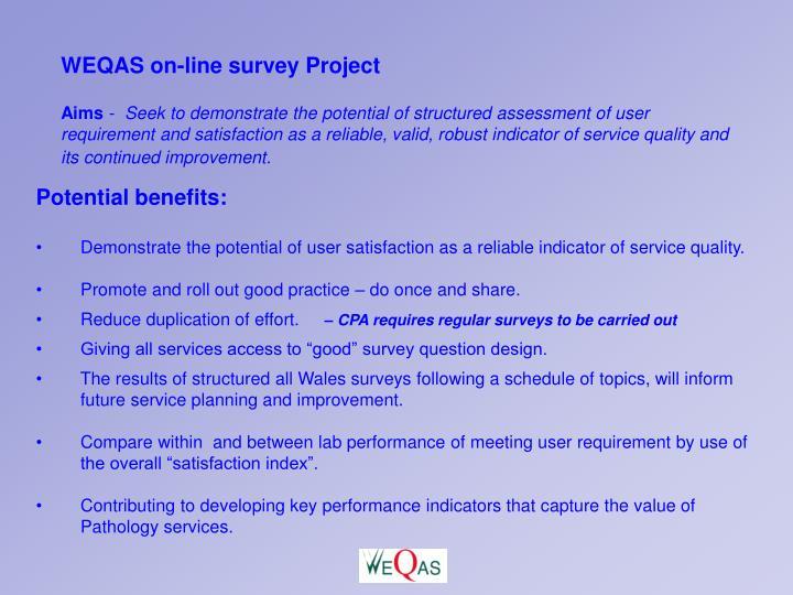 WEQAS on-line survey Project