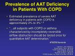prevalence of aat deficiency in patients with copd