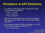 prevalence of aat deficiency