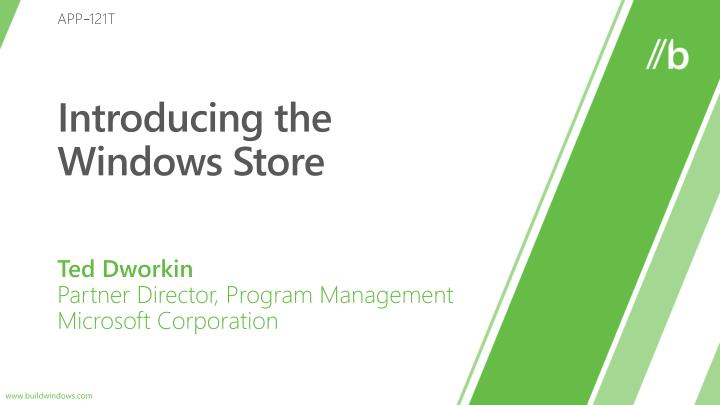 introducing the windows store n.