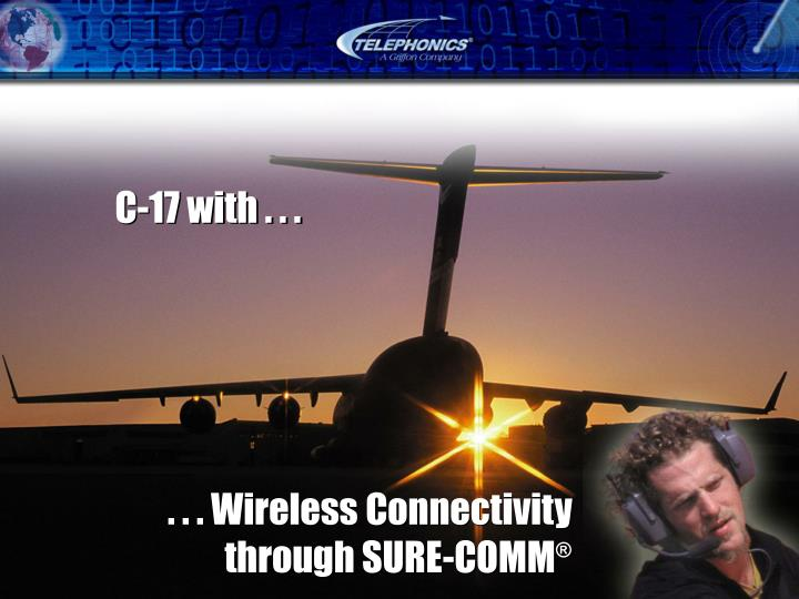 . . . Wireless Connectivity through SURE-COMM
