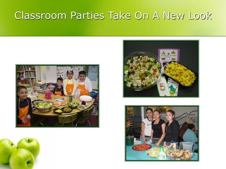 Classroom Parties Take On A New Look