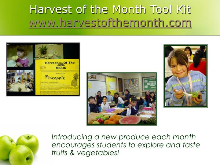 Harvest of the Month Tool Kit