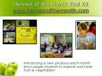 harvest of the month tool kit www harvestofthemonth com