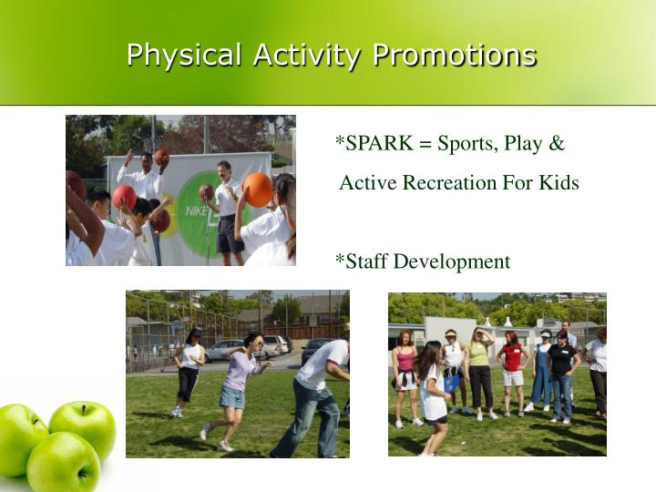 Physical Activity Promotions
