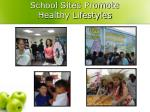 school sites promote healthy lifestyles