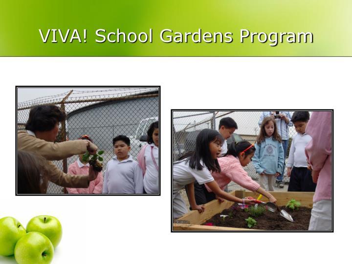VIVA! School Gardens Program