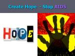 create hope stop aids