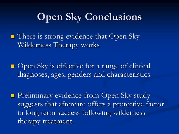 Open Sky Conclusions