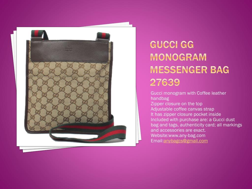 Gucci GG Monogram Messenger Bag 27639
