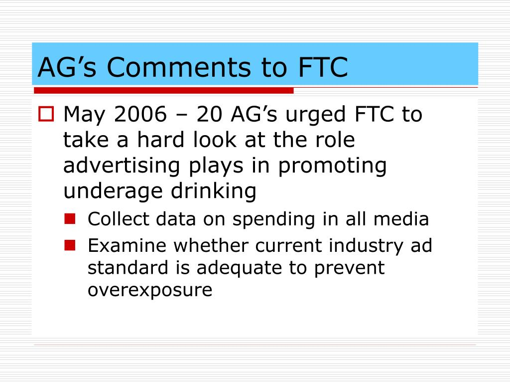 AG's Comments to FTC