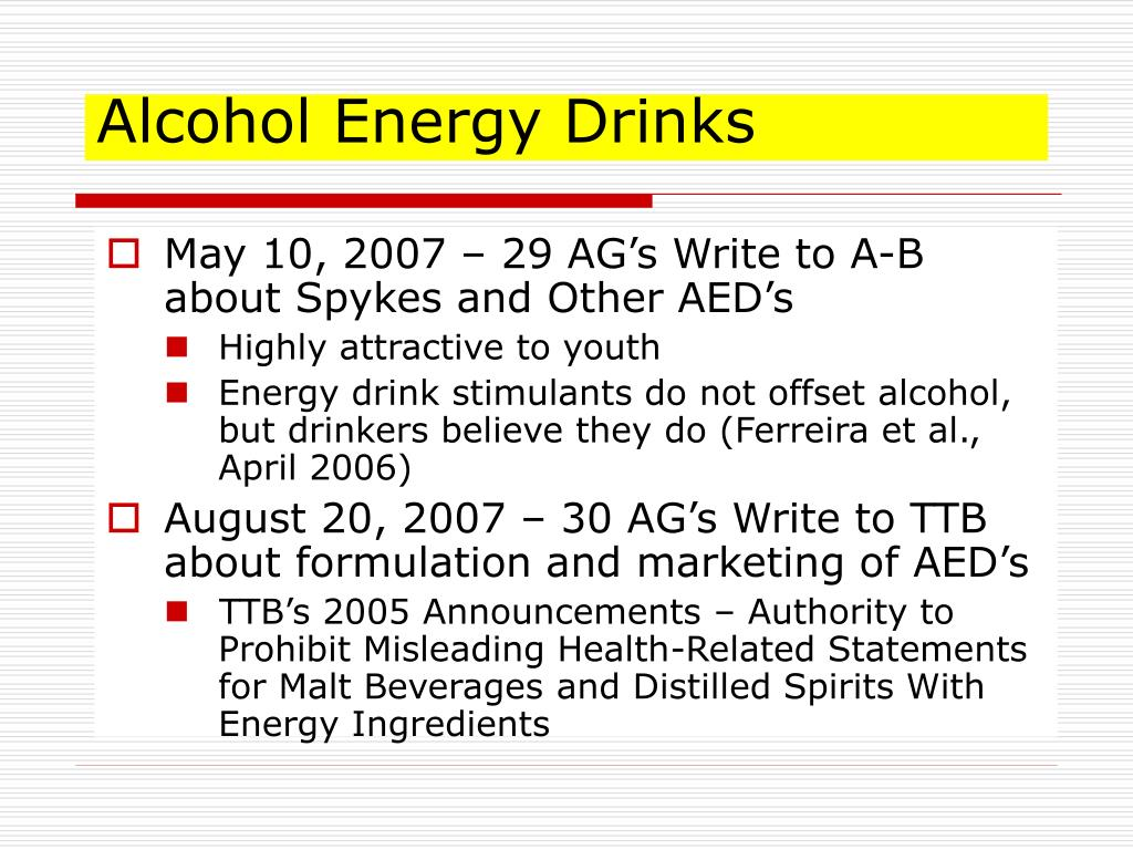Alcohol Energy Drinks