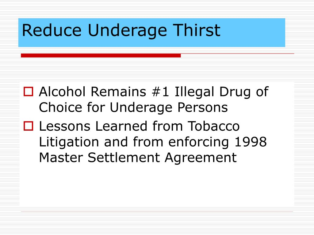 Reduce Underage Thirst