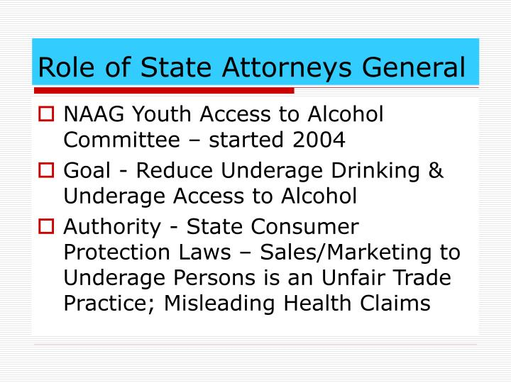 Role of state attorneys general