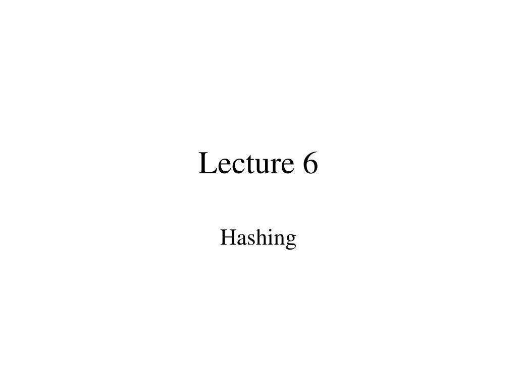 lecture 6 l.