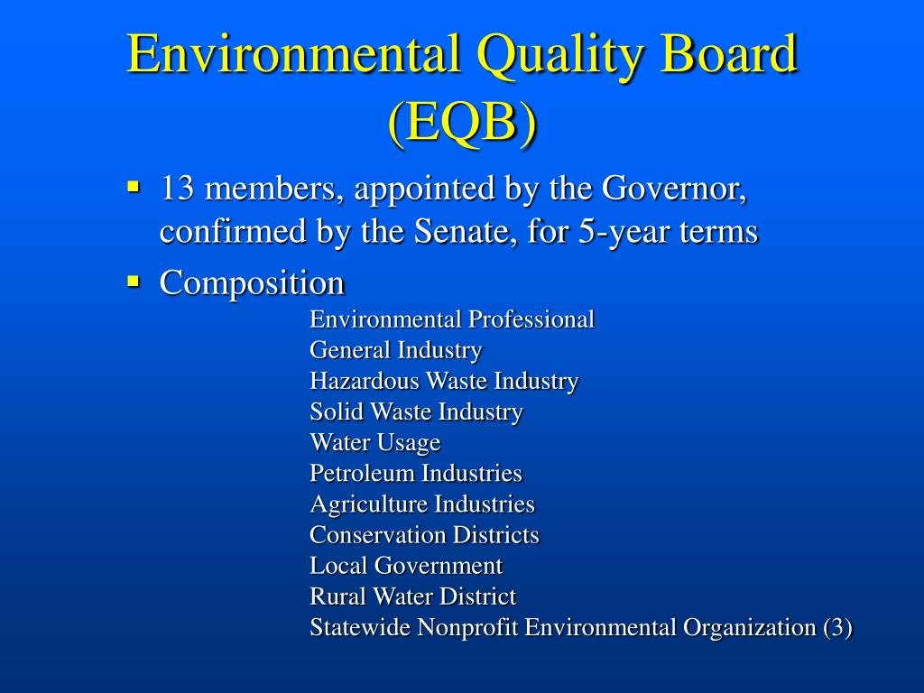 Environmental Quality Board (EQB)