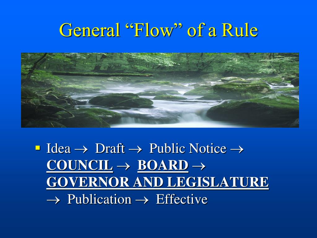 "General ""Flow"" of a Rule"