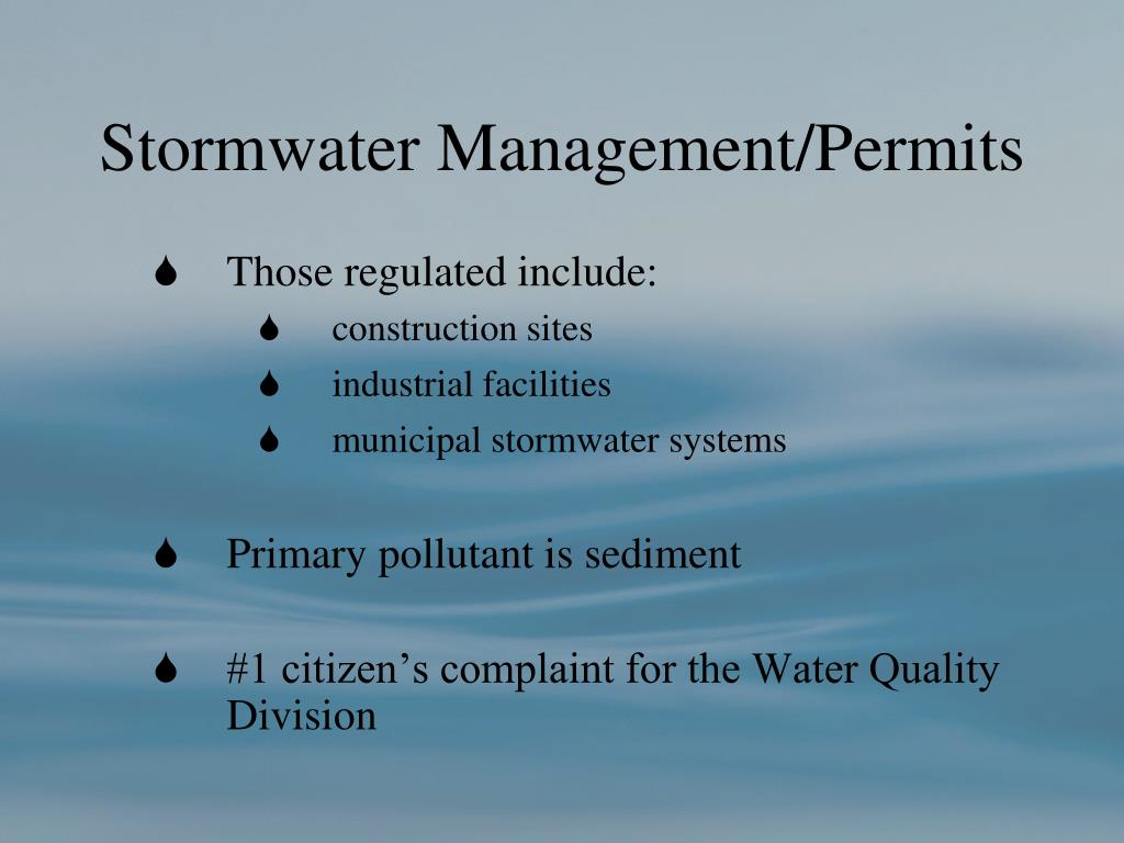 Stormwater Management/Permits