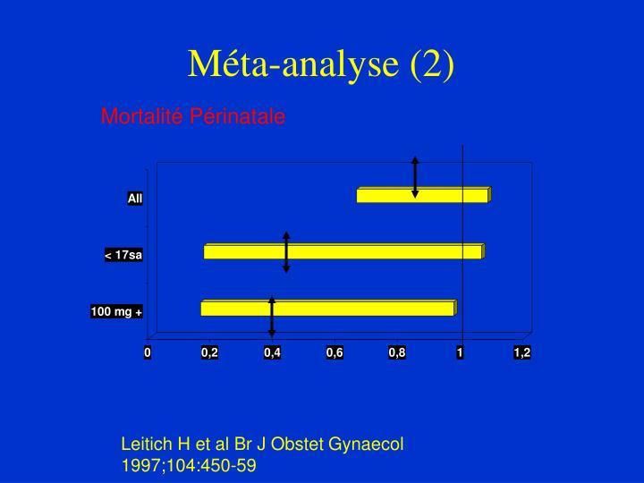 Méta-analyse (2)