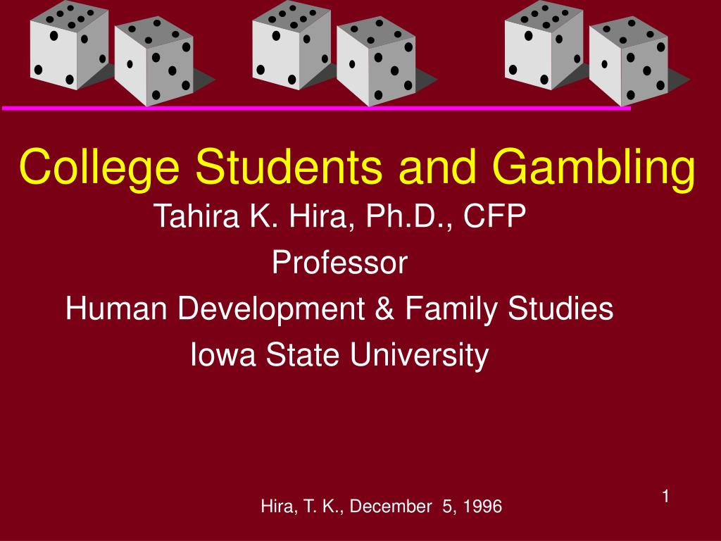 college students and gambling l.