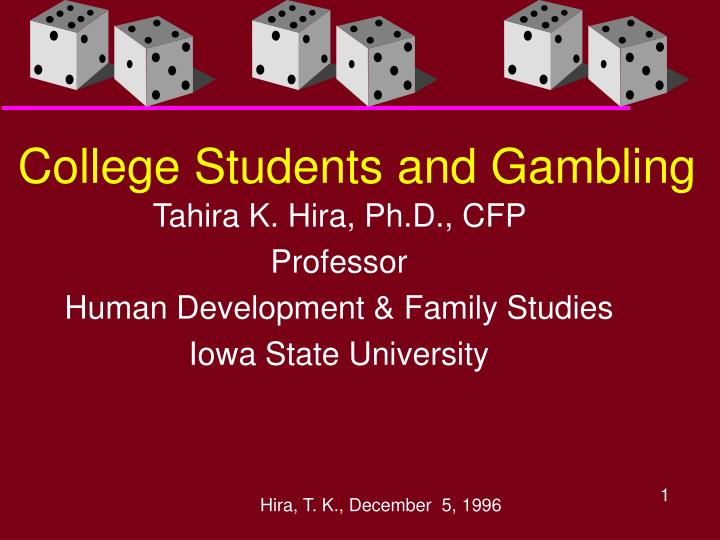 college students and gambling n.