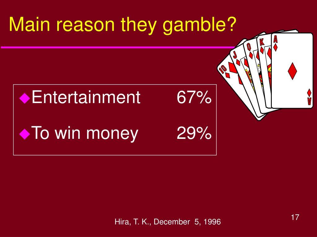Main reason they gamble?