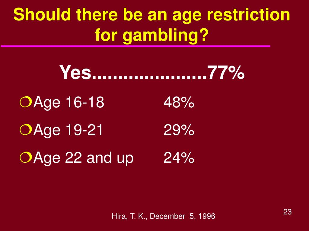 Should there be an age restriction for gambling?