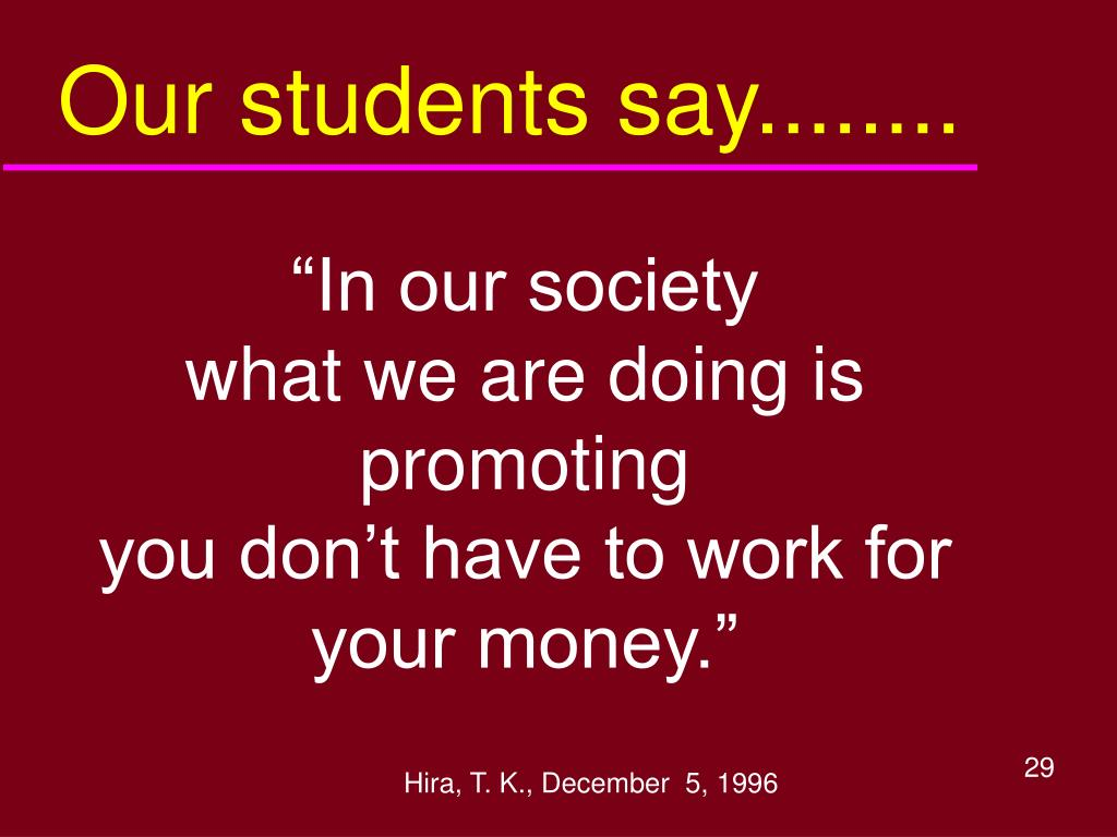 Our students say........