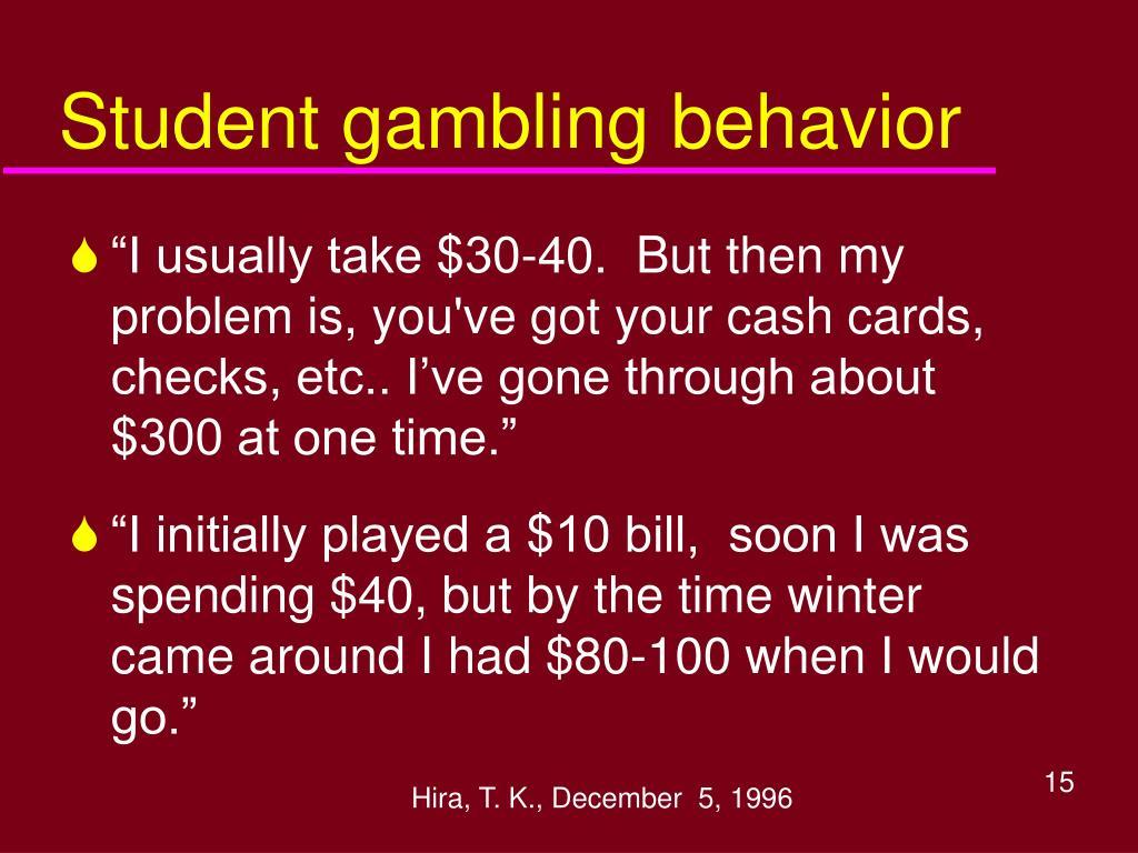 Student gambling behavior