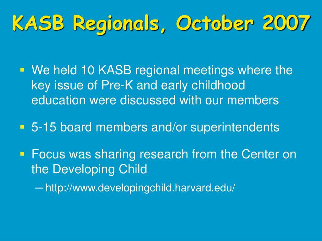 KASB Regionals, October 2007