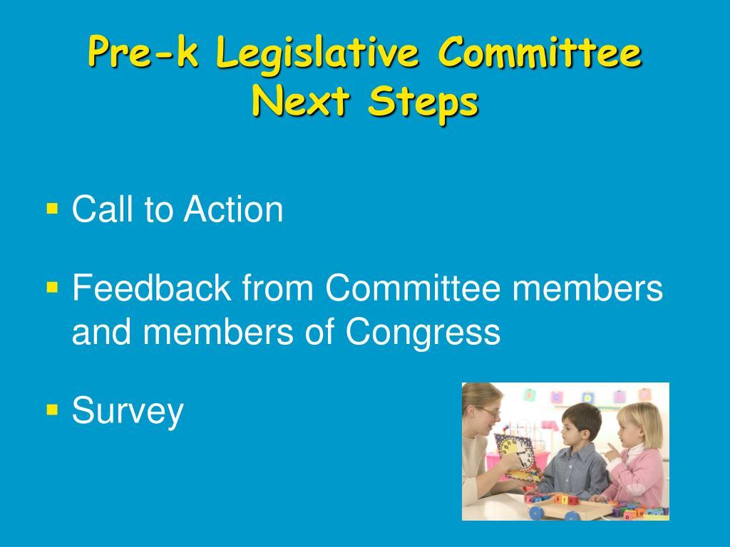 Pre-k Legislative Committee