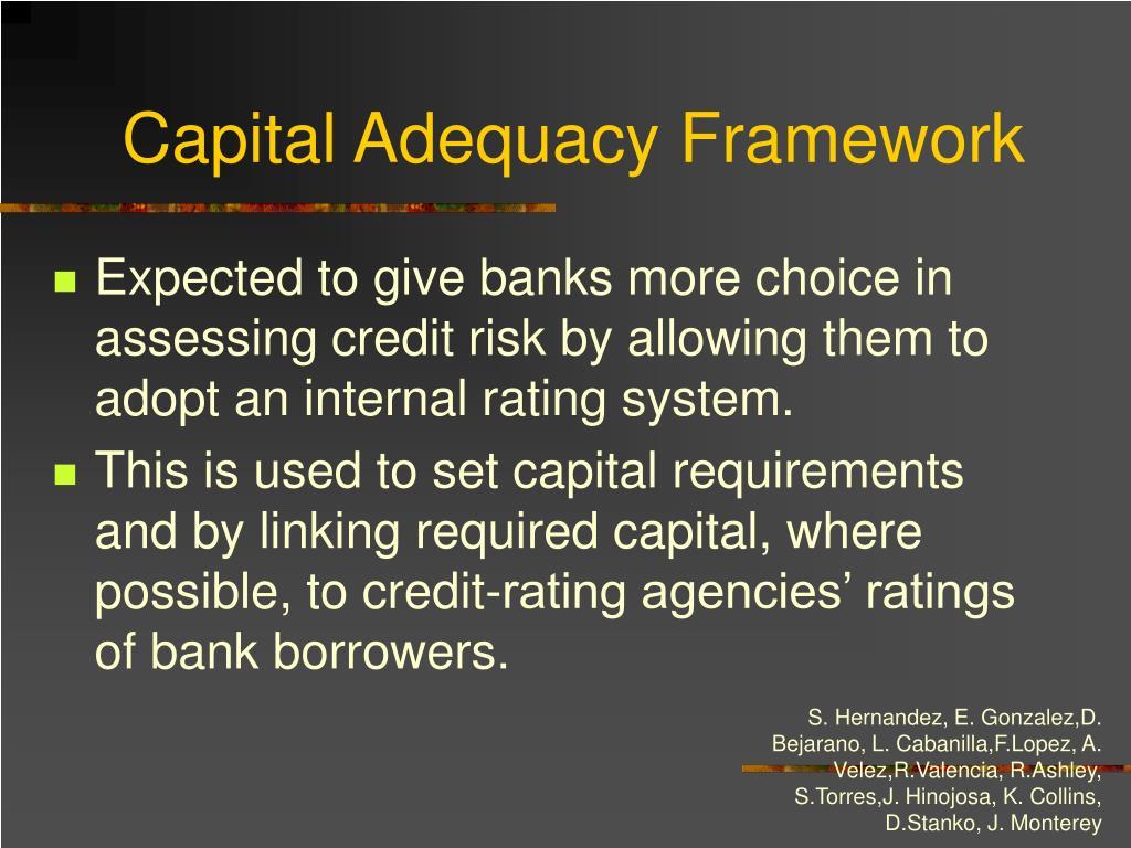 Capital Adequacy Framework
