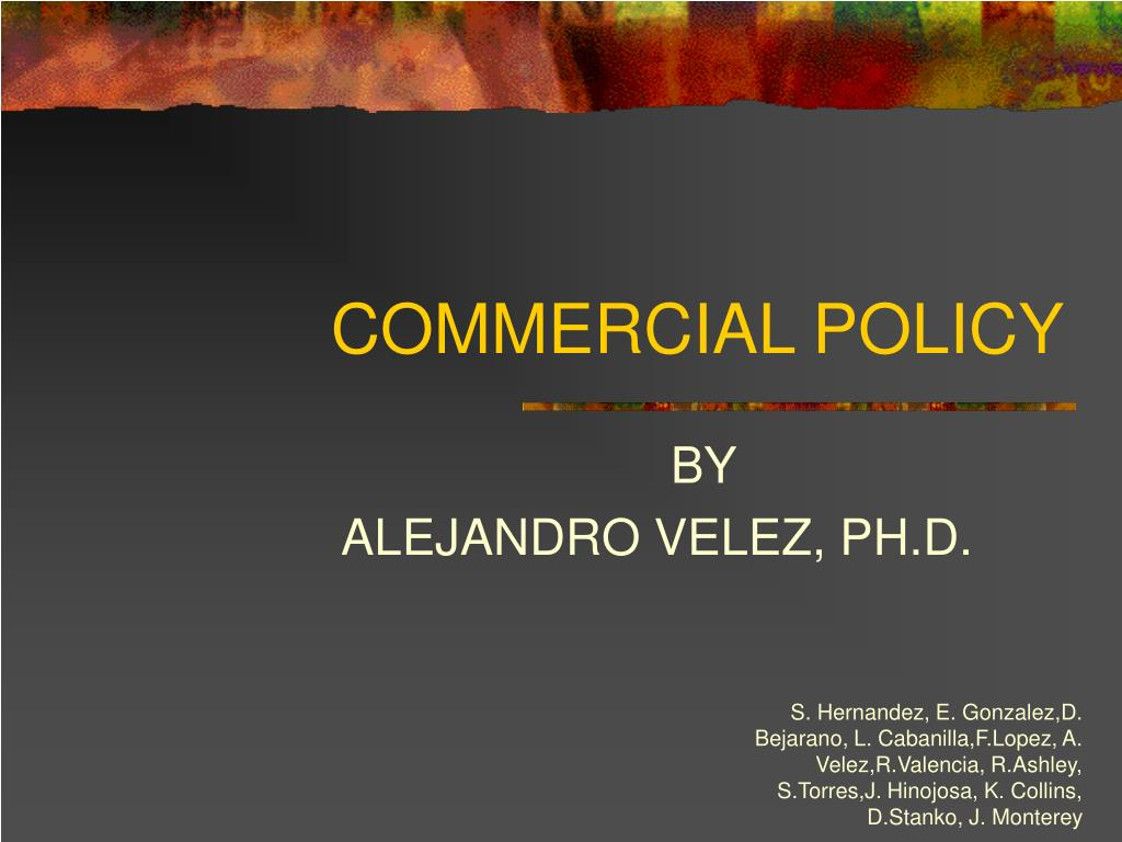 commercial policy l.