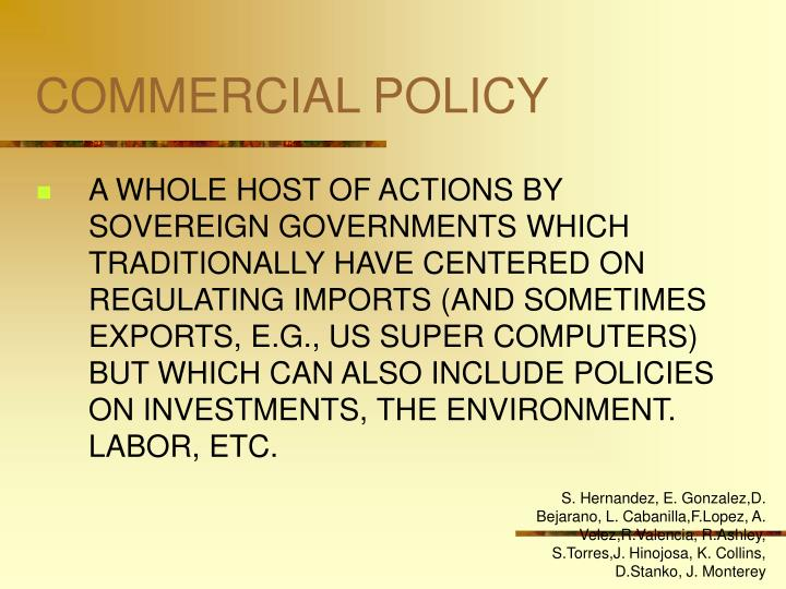 Commercial policy2
